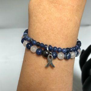 Jewelry - Sodalite and Rose Quartz Bracelet Set